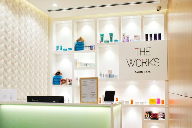The Works Salon and Spa blow dry Dubai
