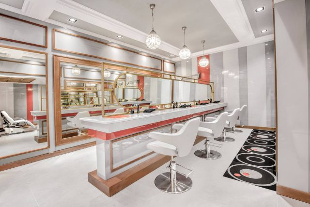 Marquee blow dry bar in Dubai