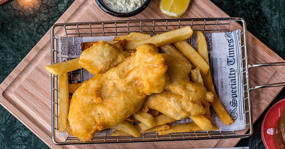 The Rose and Crown fish and chips Dubai