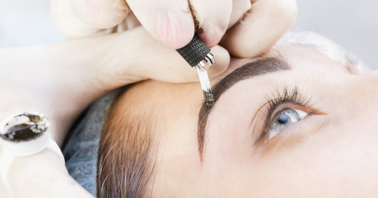 Microblading eyebrows Dubai