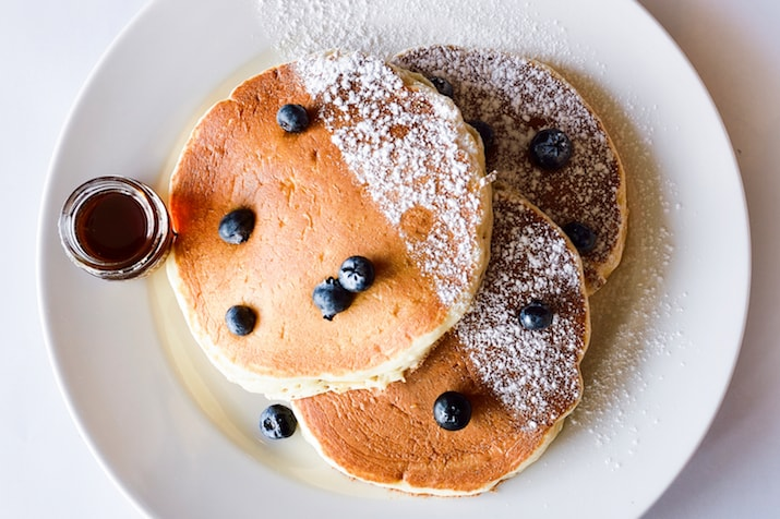 Eggspectation pancakes breakfast in Dubai