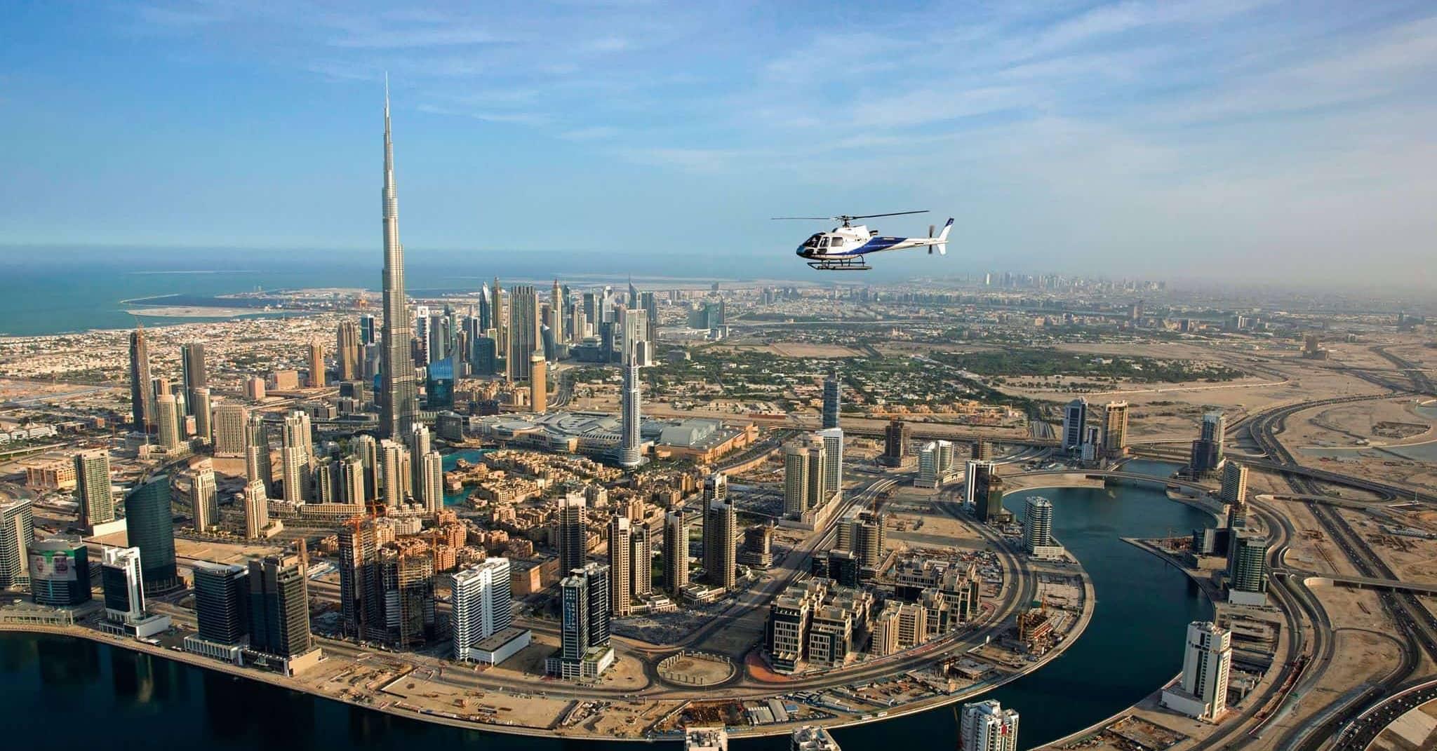HeliDubai helicoptour tour experience Dubai