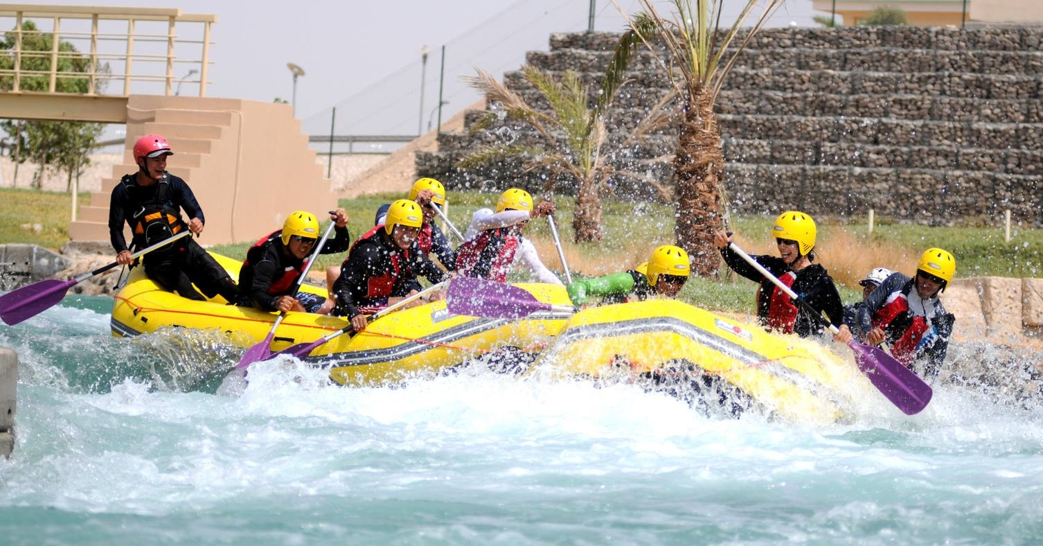 Extreme watersports in Dubai Wadi Adventure