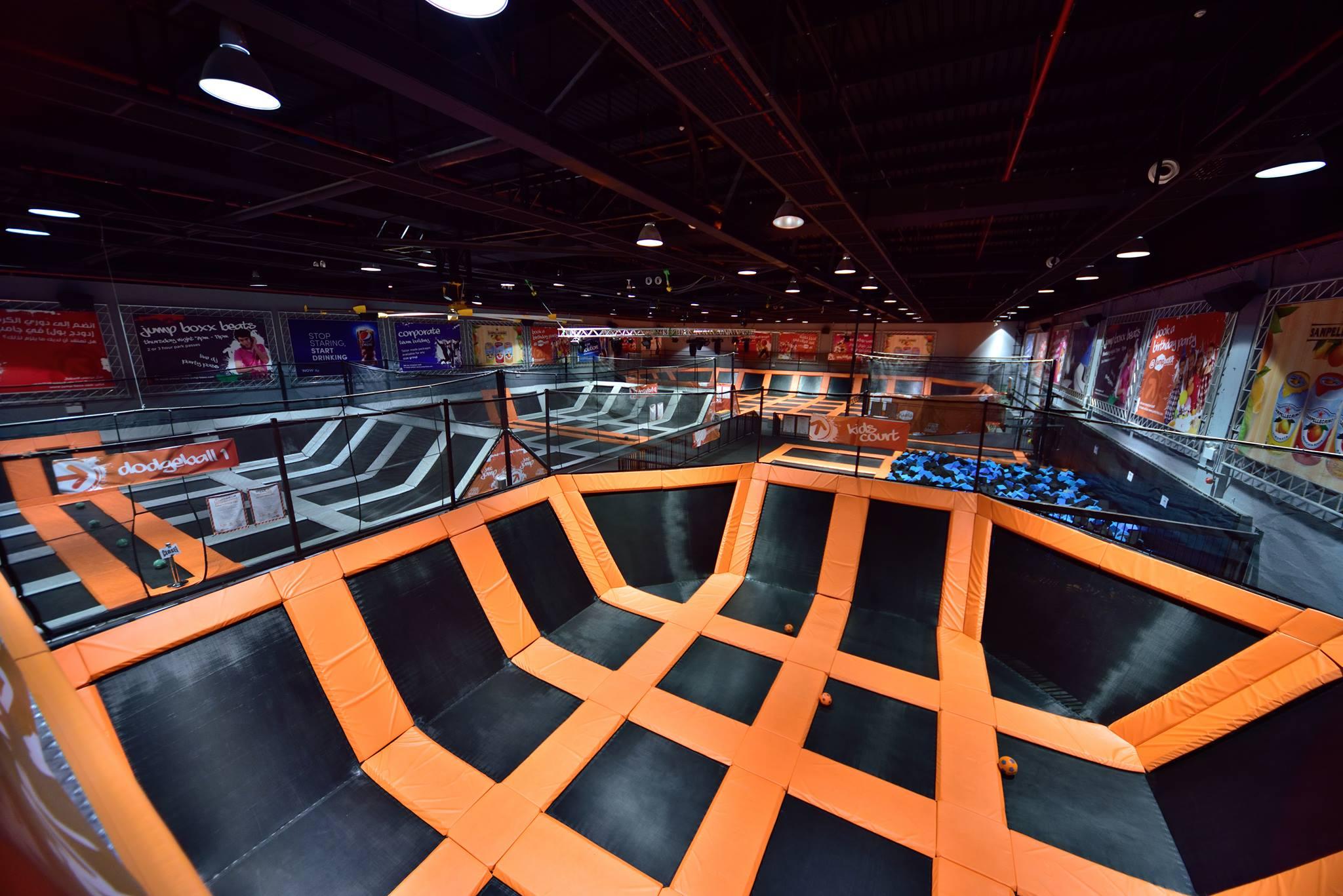 Jump Boxx trampoline park Dubai