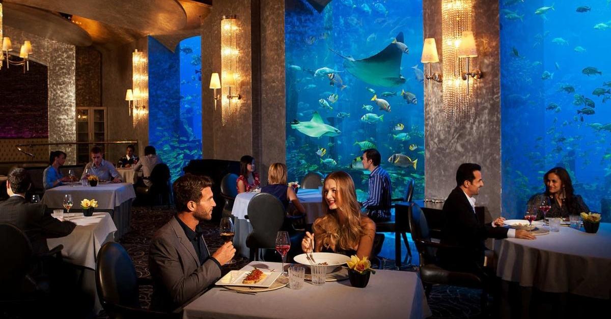 Ossiano underwater restaurant Atlantis the Palm