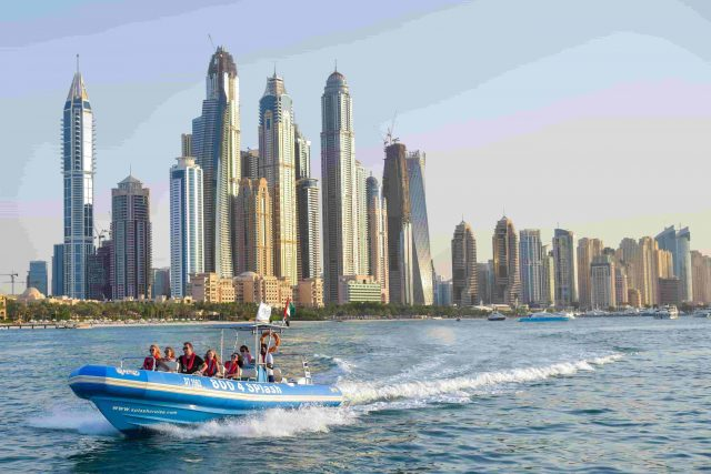 Splash Tours boat cruise Dubai