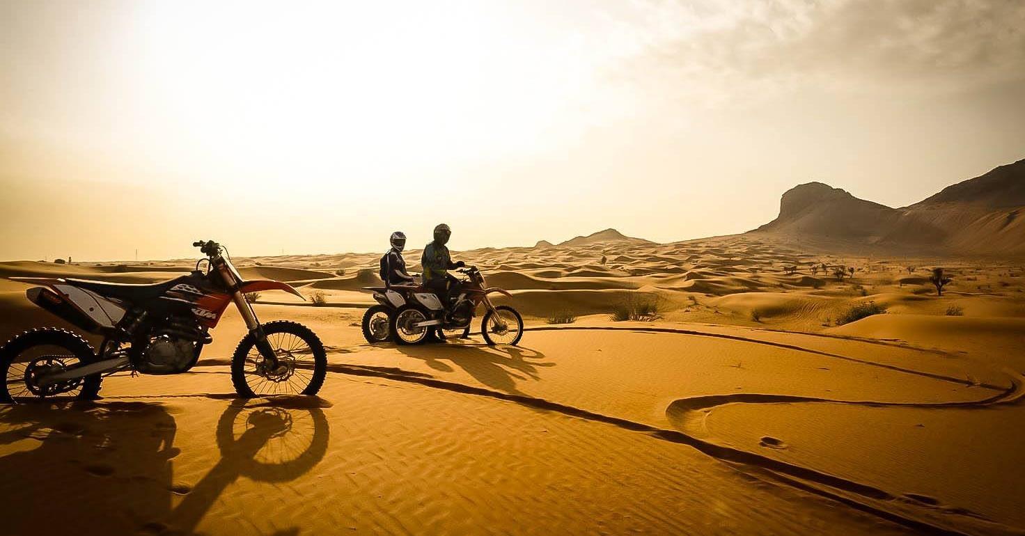 Just Gas It motorbike desert tour Dubai