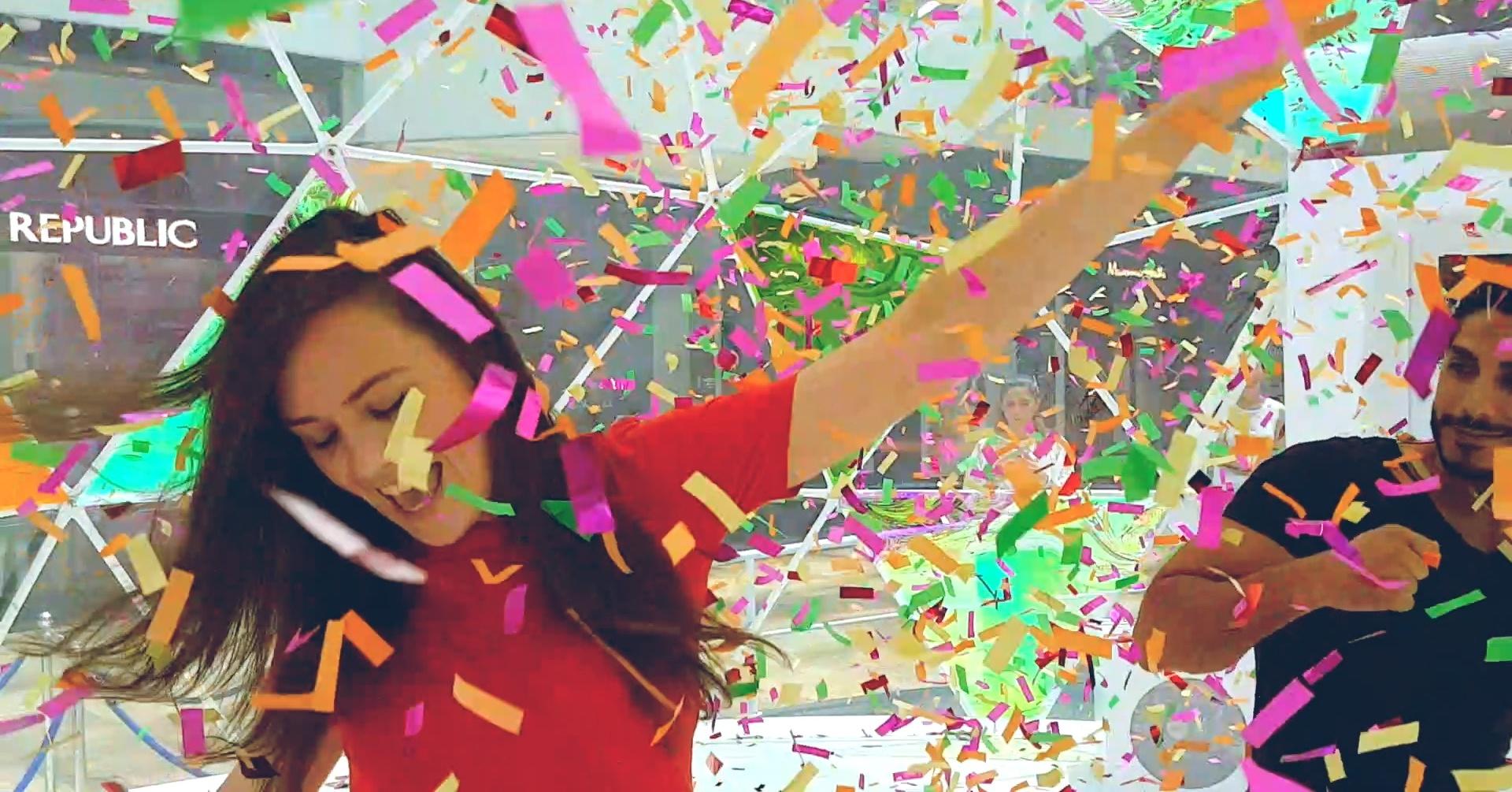 Confetti dome at Dubai festival City