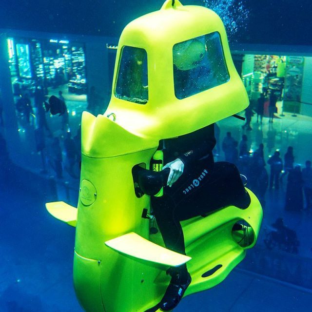 Shark Scooter Dubai Mall Aquarium