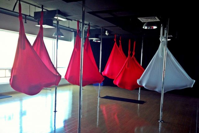 Aerial Yoga fitness classes Dubai