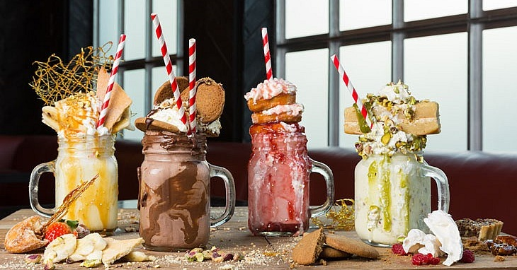 The Black Lion freakshakes in Dubai