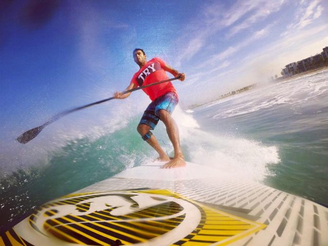 Paddle boarding kite n surf Dubai Kite Beach