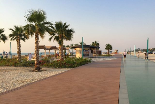 Kite Beach running track Dubai