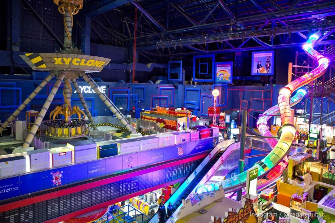 Region's largest slide looking colourful in Sega Republic at The Dubai Mall