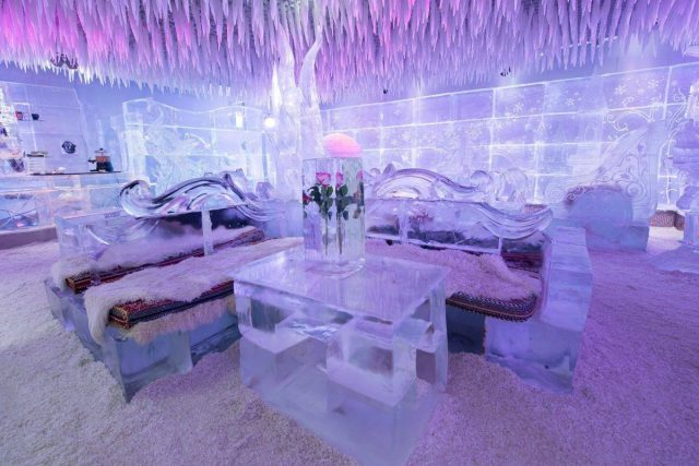 Chillout Ice Lounge in ice bar in dubai