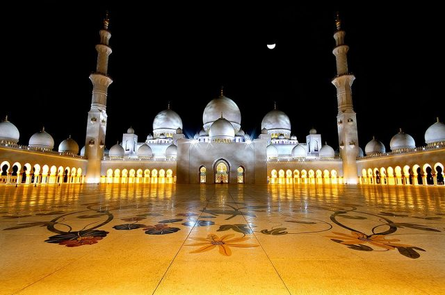 Sheikh Zayed Grand Mosque tourist attraction Abu Dhabi