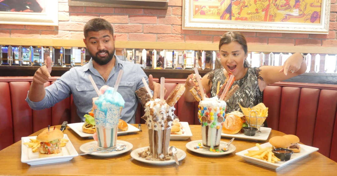burgers and milkshakes at TGI Fridays