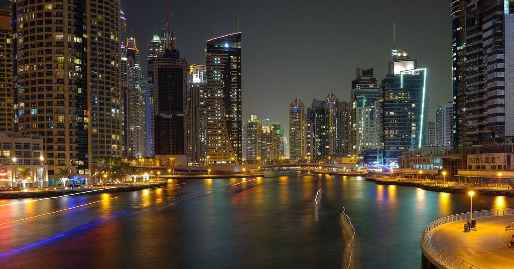 Dubai Marina - dry night Dubai