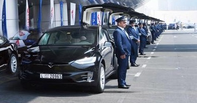 Tesla Dubai taxis