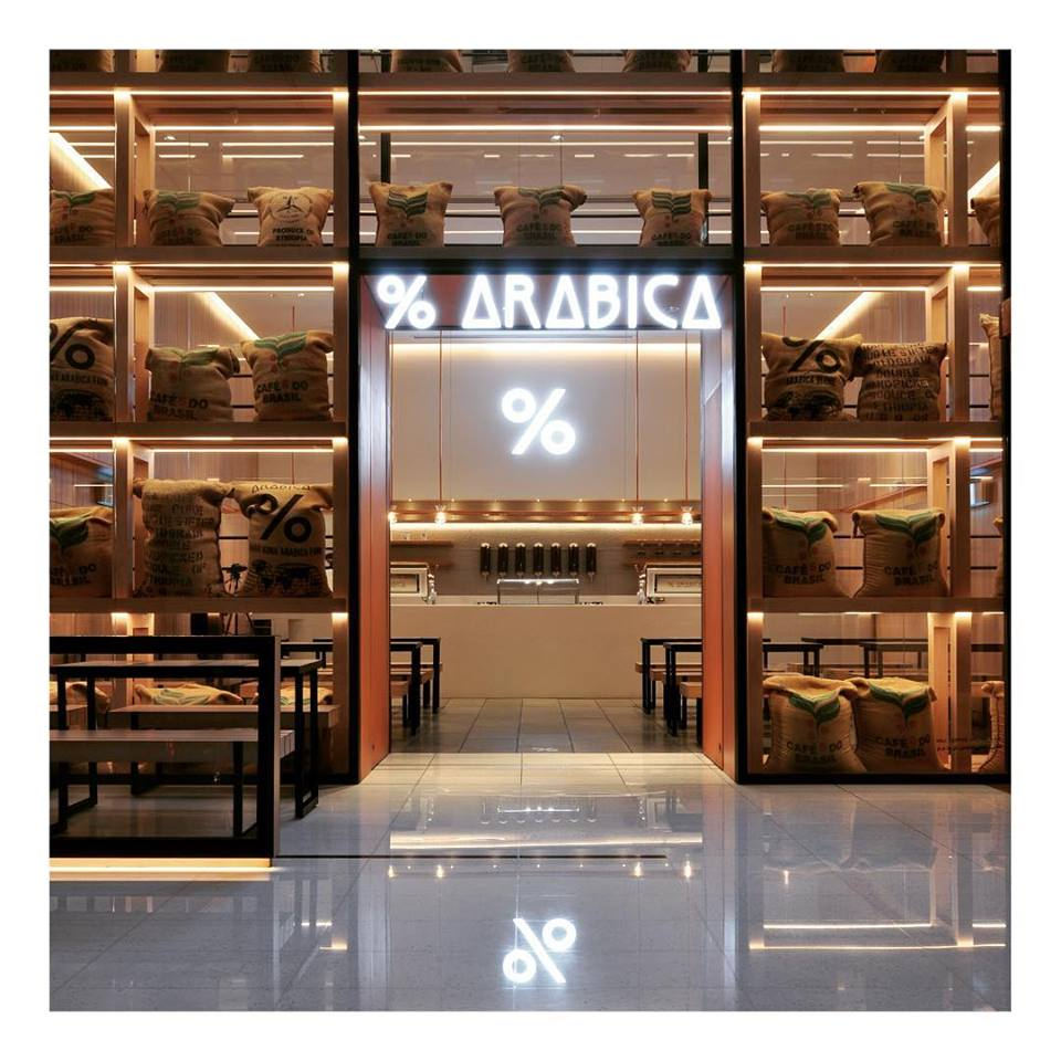 % Arabica coffee shop in Dubai