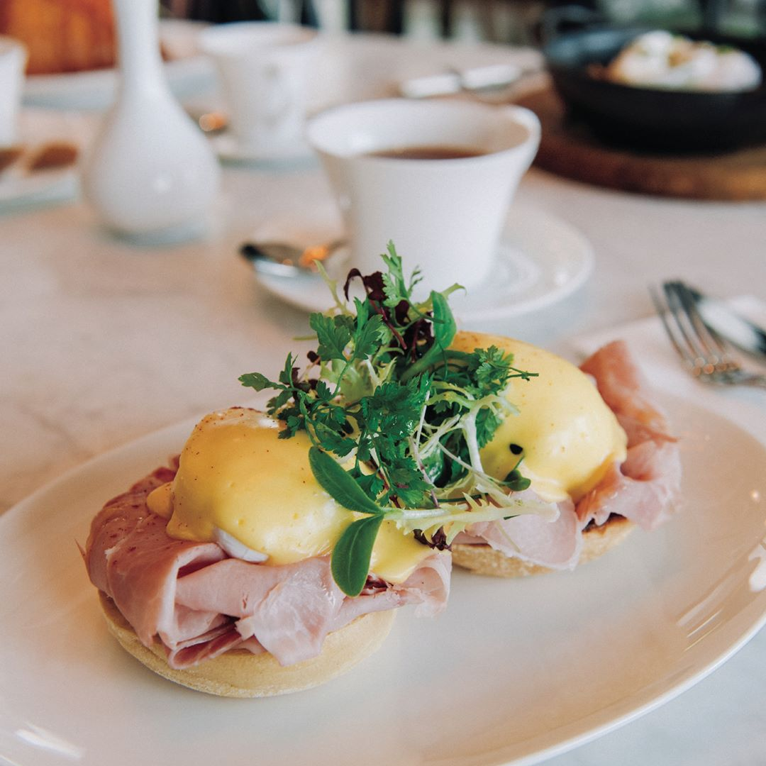 Poached eggs at Demoiselle by Galvin