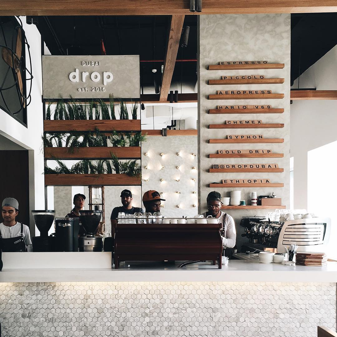Drop Dubai coffee shop