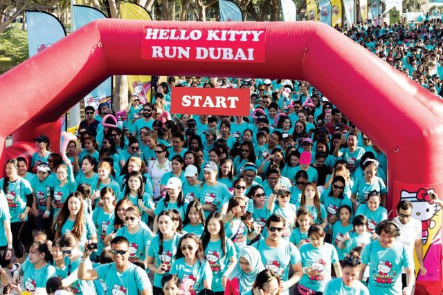hello kitty marathon dubai
