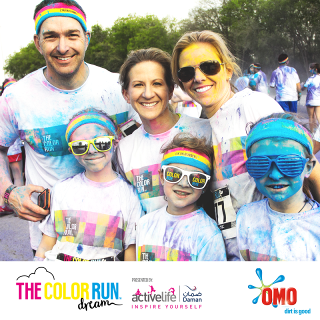 OMO Color Run family fun in Dubai