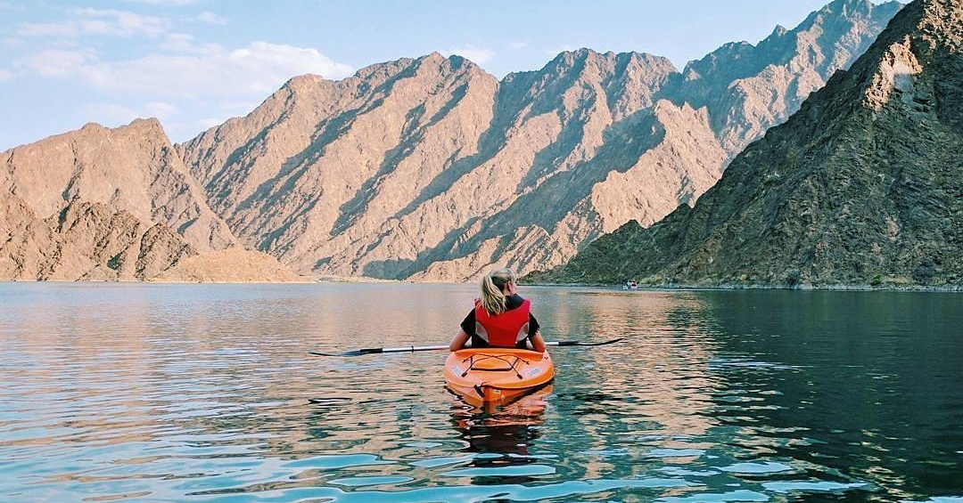 kayaking in dubai - hatta kayak at hatta dam