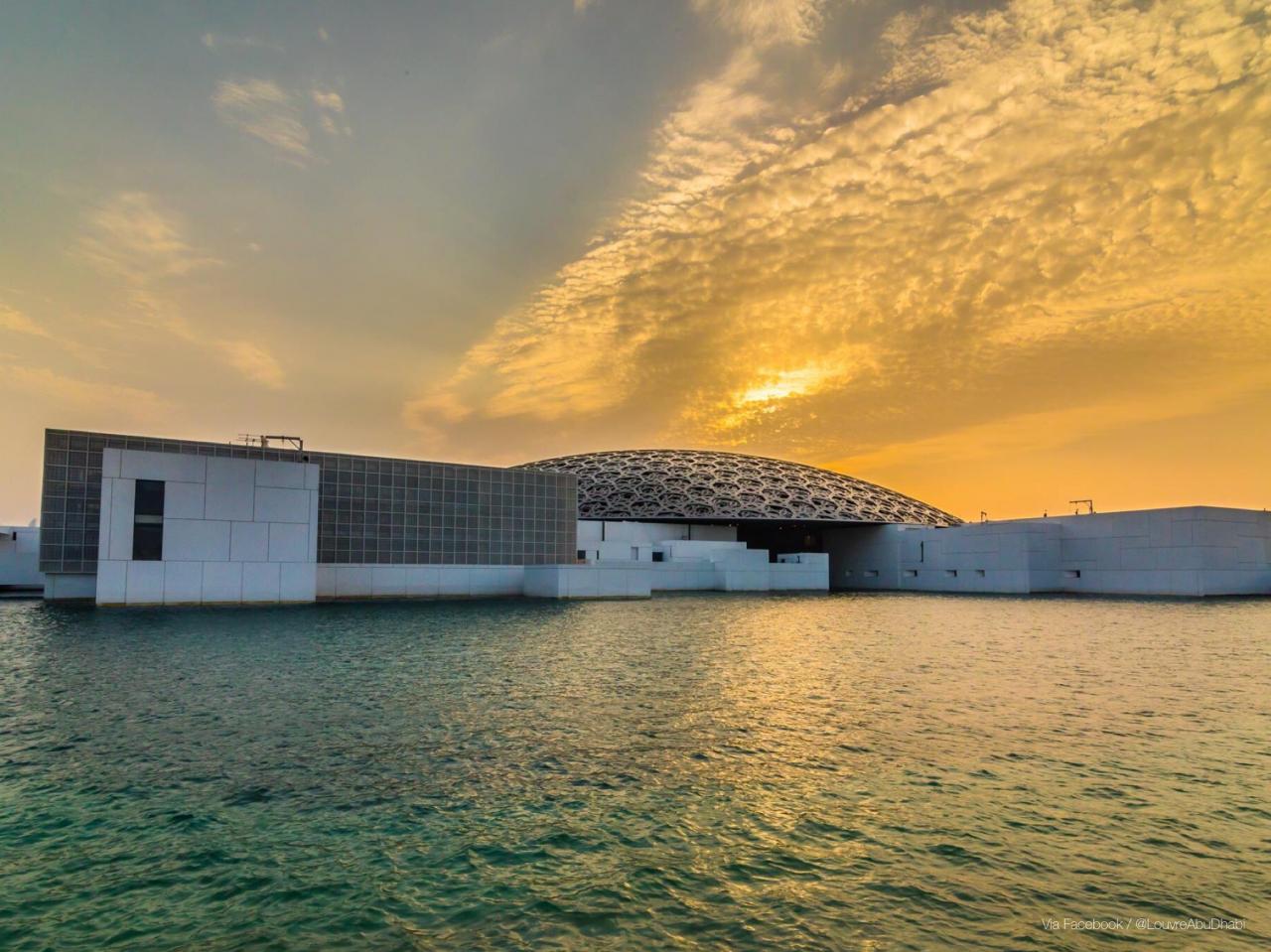Louvre-Abu-Dhabi-Museum-Sunset