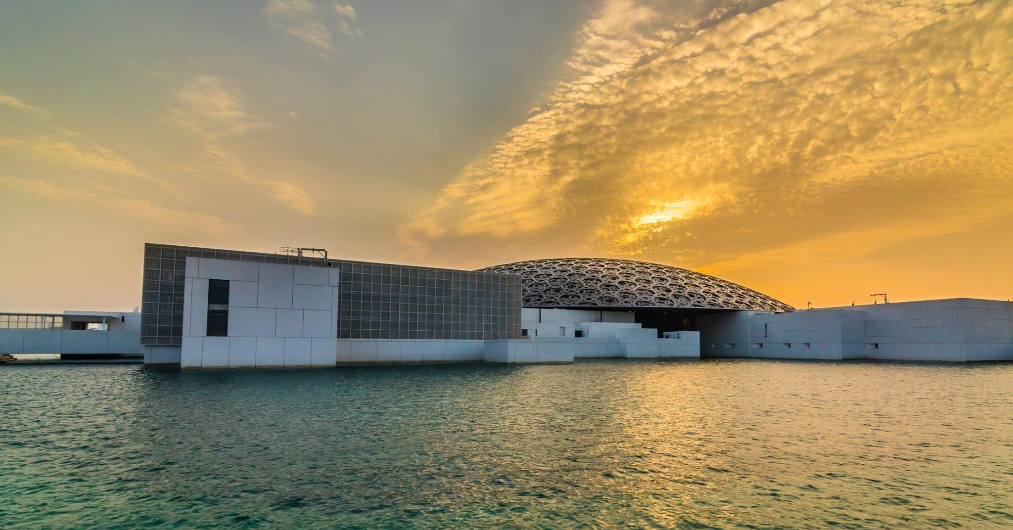 Sunset shot at Louvre Abu Dhabi museum