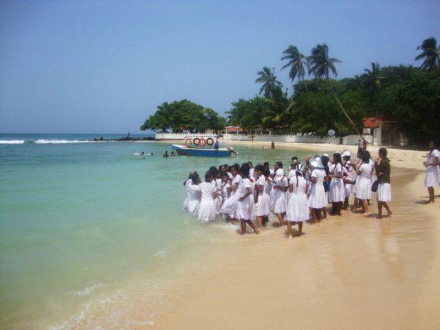 Unawatuna beach in Southern Sri Lanka