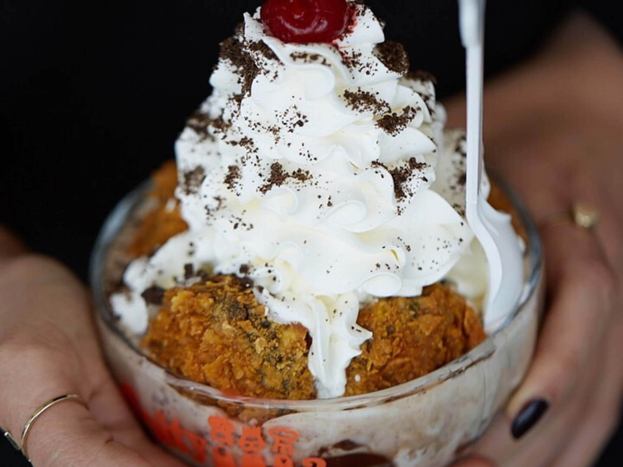Deep Fried Oreos & Ice Cream at Serendipity 3