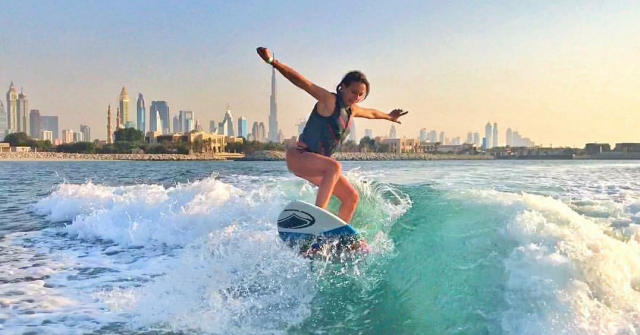 Surf Dubai, Surfing in Dubai, Surf House Dubai, Kitesurfing - Fahrenheit Beach Sports Surf School Arabia