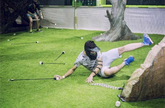 Indoor games in Dubai - Archery Tag at Flip Out Dubai