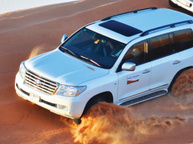Desert Adventure in Dubai - Dune Bashing at Desert Safari