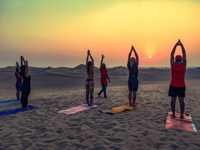 full moon yoga classes in dubai sofitel the palm