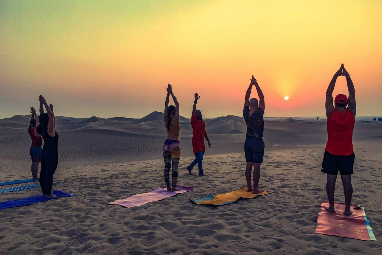 full moon yoga classes in dubai sofitel the palm Cropped