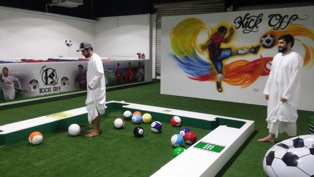 indoor games in dubai snookball kickoff dxb
