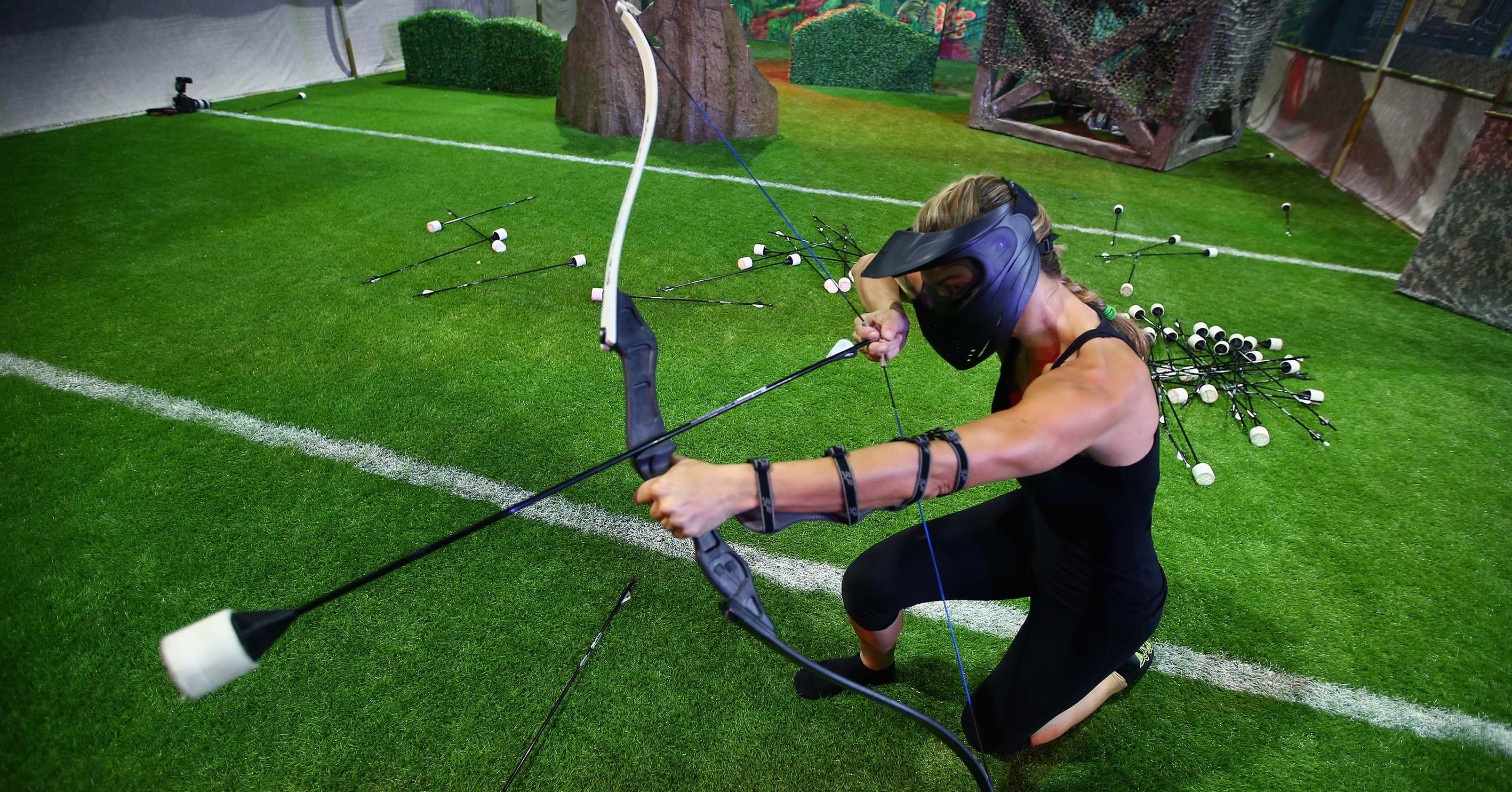 indoor activities in dubai - archery tag at flip out