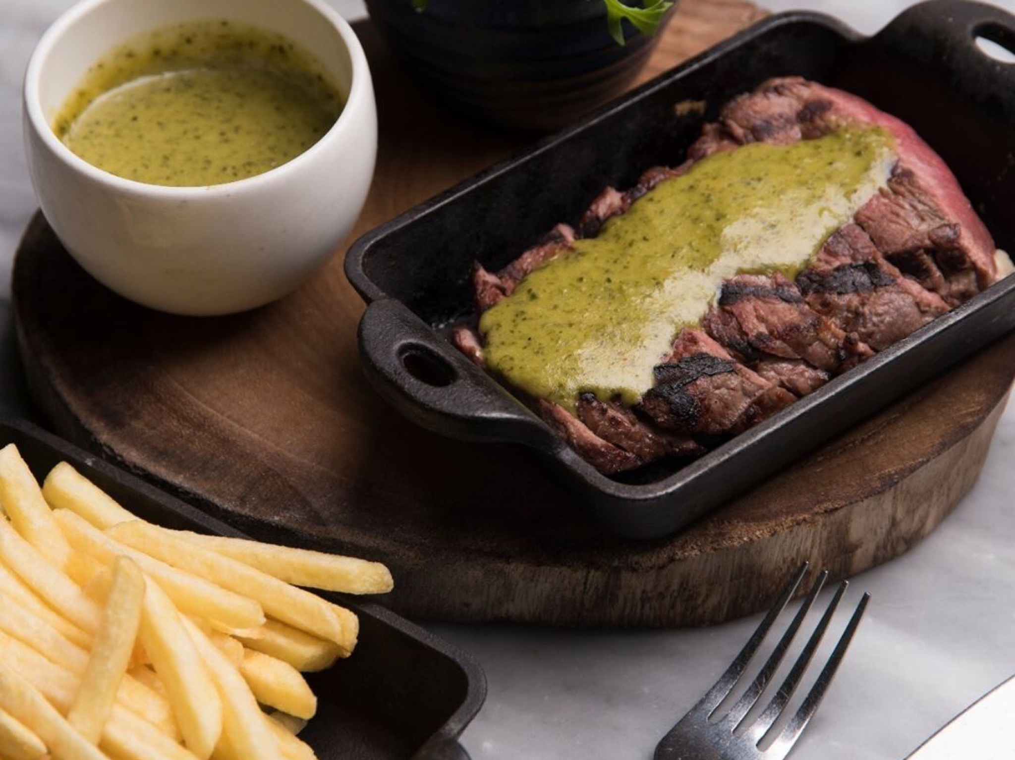 Steak Frites at Bertin Bistro Dubai