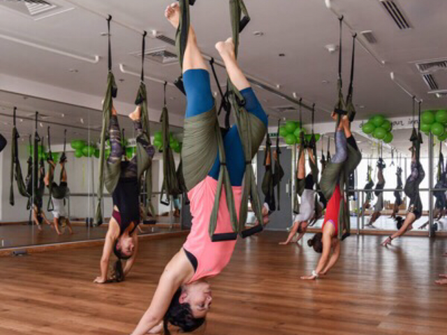 Yoga in Dubai - Swing Yoga Aerial Yoga Define Dubai