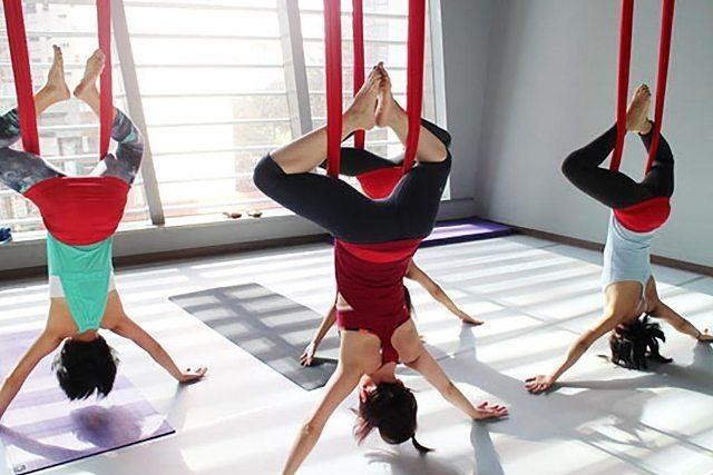 Yoga in Dubai - Swing Yoga Aerial Yoga La Vie Dubai