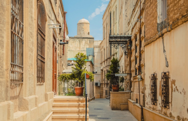 An Old City street in Baku