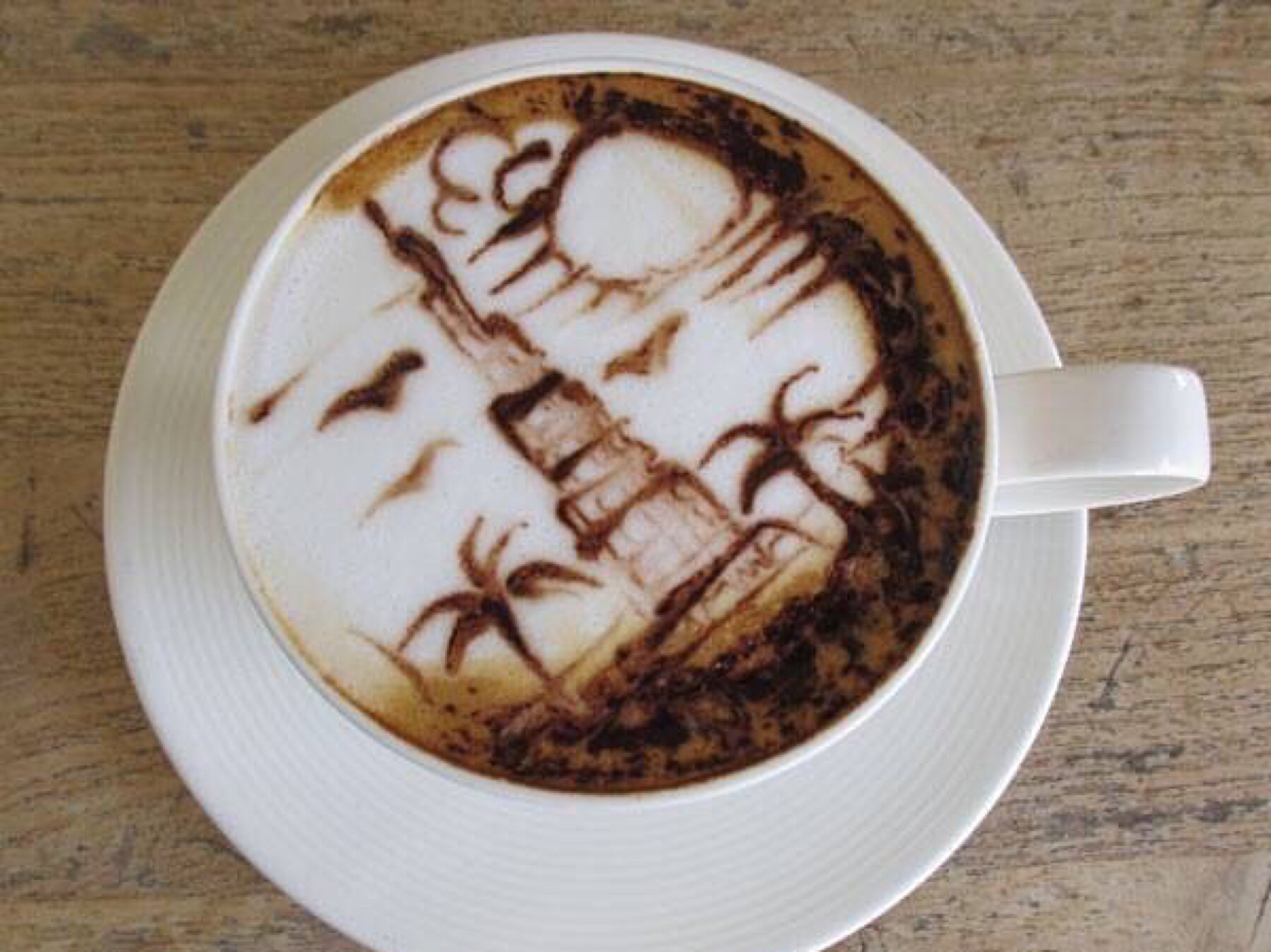 coffee art at Baker & Spice Dubai
