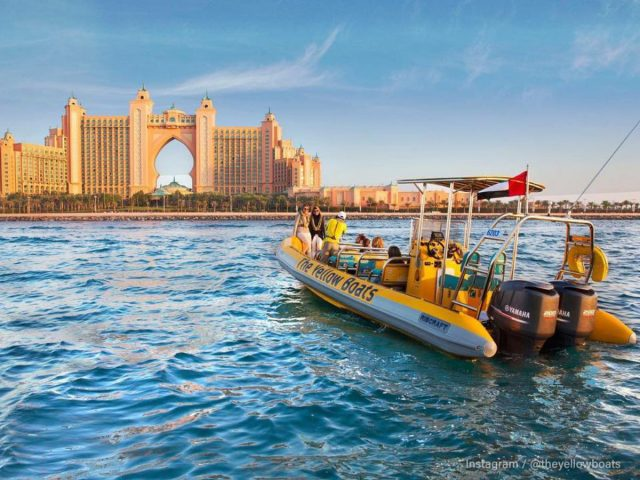 dubai marina cruise palm jumeirah dubai boat tour the yellow boats dubai