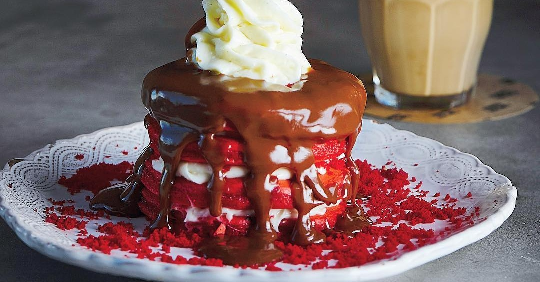 Red Velvet Pancakes at Cocoa Room