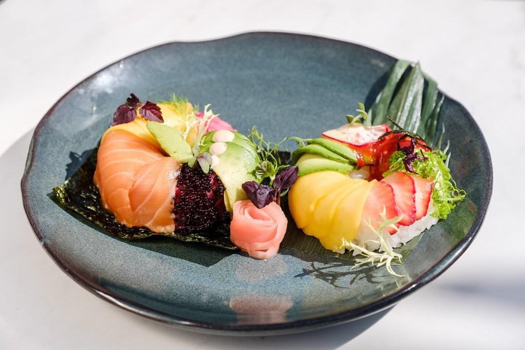 Sushi doughnuts in Dubai at Scape Restaurant & Lounge