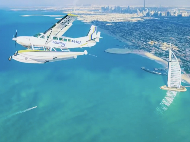 Sky-high air adventure in Dubai - Seawings Dubai