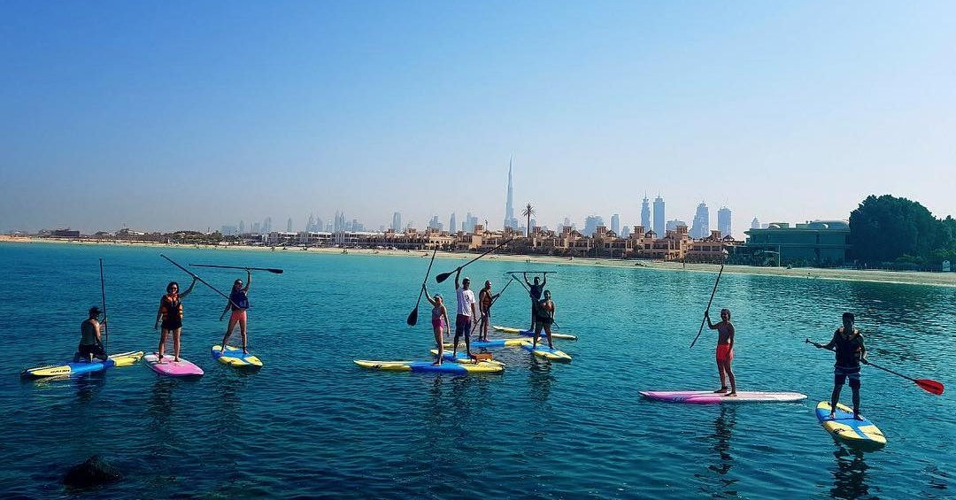 SUP Dubai / Paddle boarding in dubai - water sports Dubai at Kite N Surf
